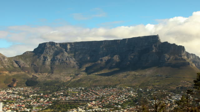 timelapse table mountain, south africa - 南ア テーブルマウンテン点の映像素材/bロール