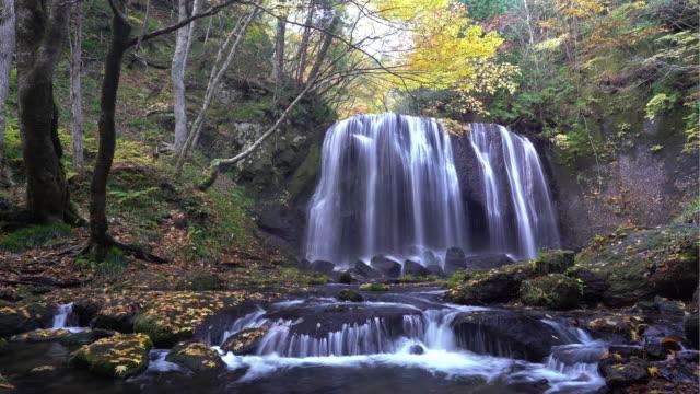 time-lapse: tatsuzawafudo falls, fukushima, japan - natural condition stock videos and b-roll footage