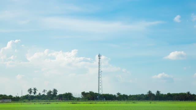 4k timelapse: telecommunication towers - repeater tower stock videos and b-roll footage