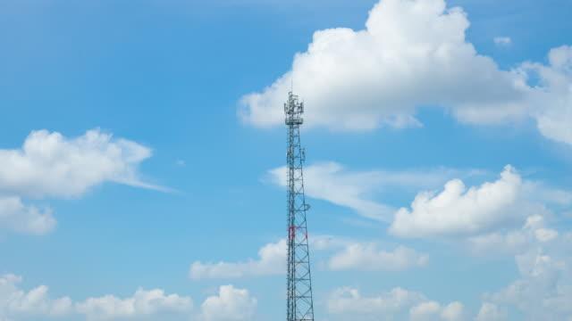 4K Timelapse: Telecommunication towers