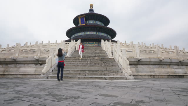 Time-lapse Himmelens tempel (Tiantan) i Beijing, China.