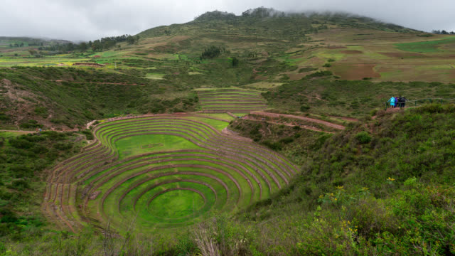 timelapse the archaeological site moray in peru - valley stock videos & royalty-free footage