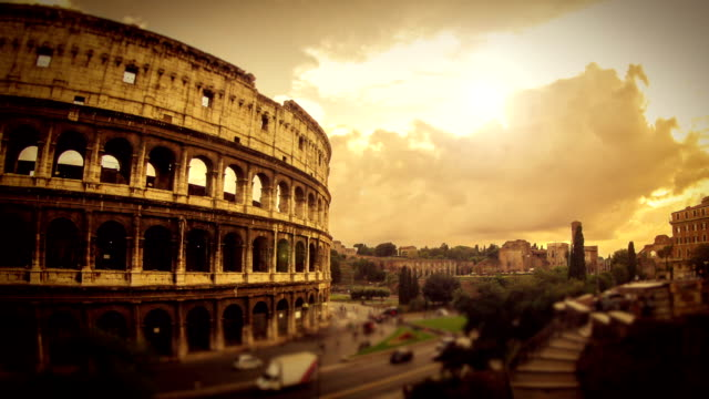 timelapse: the colosseum of rome hd video - amphitheatre stock videos & royalty-free footage