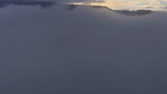 4 コマ k: 視点から見たカオ takhian ngo、カオコー、タイ、移動のペッチャブーン県朝霧 - 生い茂る点の映像素材/bロール