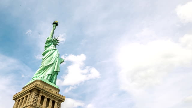 hd time-lapse: the statue of liberty in new york city - statue of liberty new york city stock videos & royalty-free footage