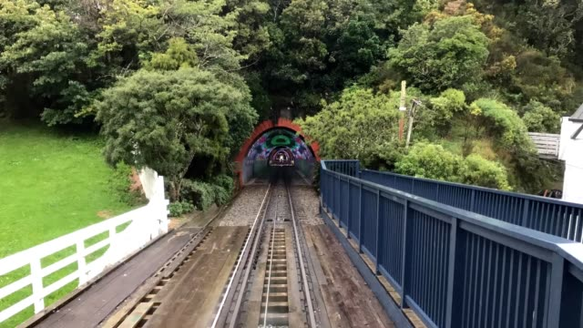 Timelapse Through the Cable Car Tunnels in Wellington New Zealand