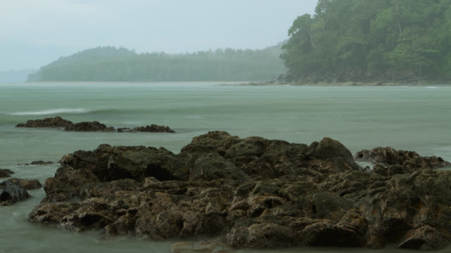 """timelapse tide goes out on forested coast, thailand"" - receding tide stock videos & royalty-free footage"