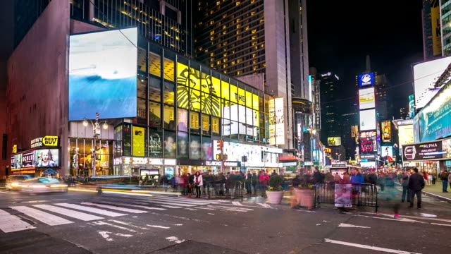 HD time-lapse: Times Square New York City at night
