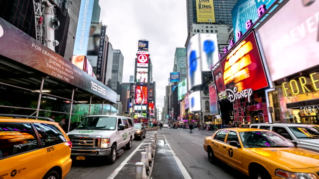 hd time-lapse: times square new york city - 2014 stock videos and b-roll footage