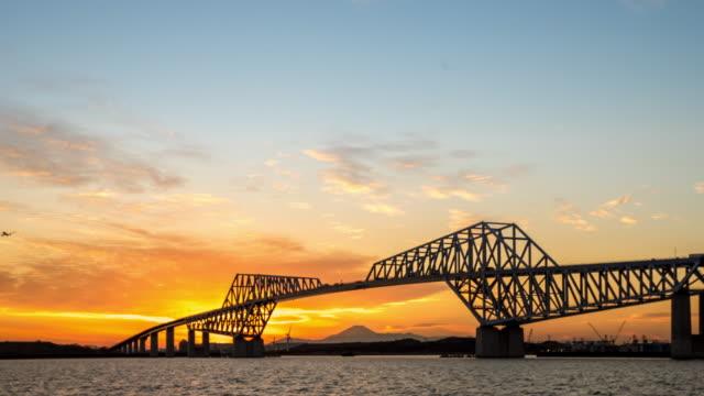 Time-lapse: Tokyo Gate Bridge Japan Sunset