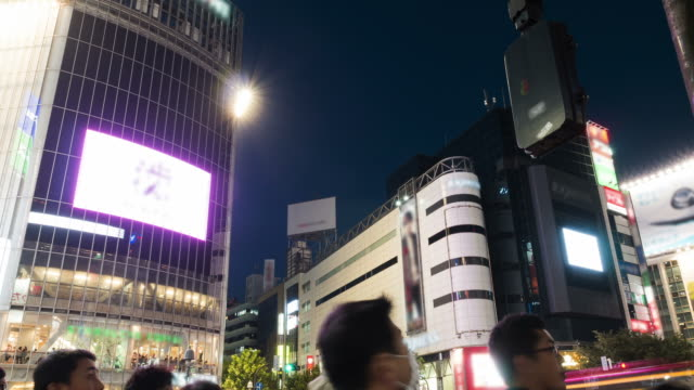 hd time-lapse: tokyo shibuya crossing, japan - road signal stock videos & royalty-free footage