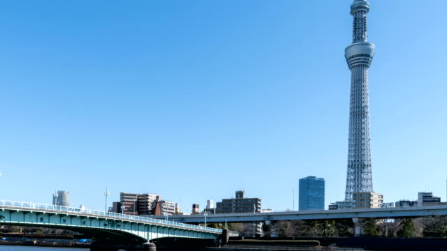 4K Time-Lapse : Tokyo sky tree and Sumida River