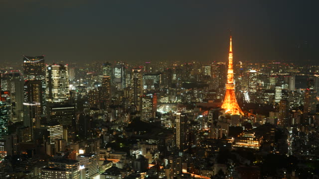 東京シティの HD タイムラプス東京タワー