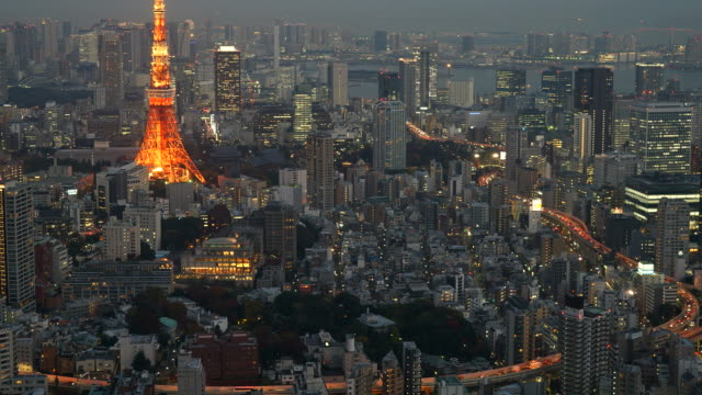 HD timelapse Tokyo Tower in Tokyo City