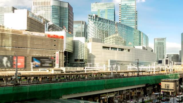 hd :time -lapse (低速度撮影) 鉄道駅の東京を見てみましょう。 - 駅点の映像素材/bロール