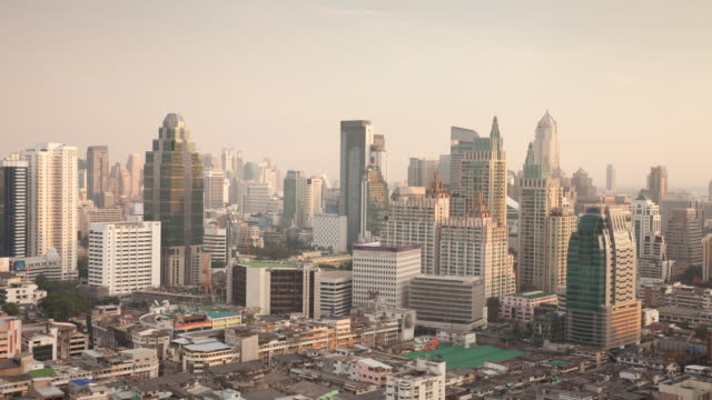 time-lapse top view bangkok sunset - 24 hrs stock videos and b-roll footage