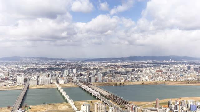 HD :微速度撮影トップの摩天楼大阪市(日本)