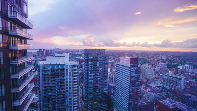 time-lapse :toronto skyline at night - ontario canada stock videos & royalty-free footage