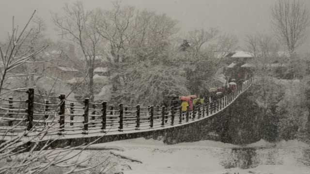 time-lapse tourist crowd in shirakawago,japan. - unesco world heritage site stock videos & royalty-free footage