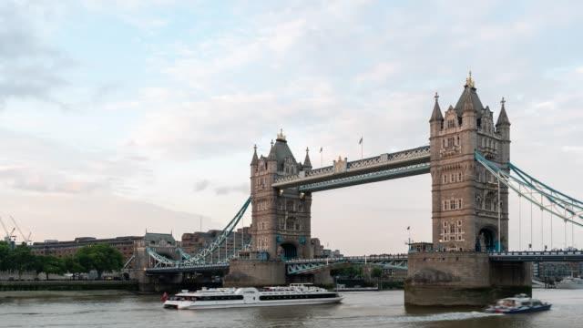 time-lapse: tower bridge in london england uk sunset night - tower bridge stock videos & royalty-free footage