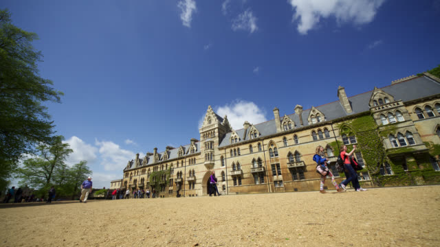 timelapse track past university of oxford, uk - oxford university stock videos and b-roll footage