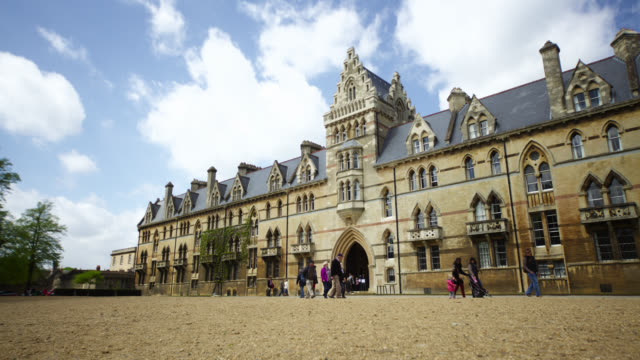 timelapse track past university of oxford, uk - oxford university stock videos & royalty-free footage