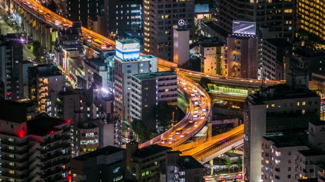 タイムラプス交通およびラッシュアワーに高速道路輸送 - 主要道路点の映像素材/bロール