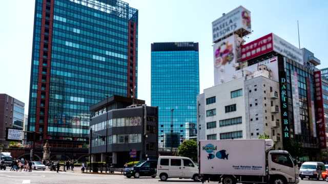 time-lapse: traffic and transportation in tokyo, japan - tilt stock videos and b-roll footage