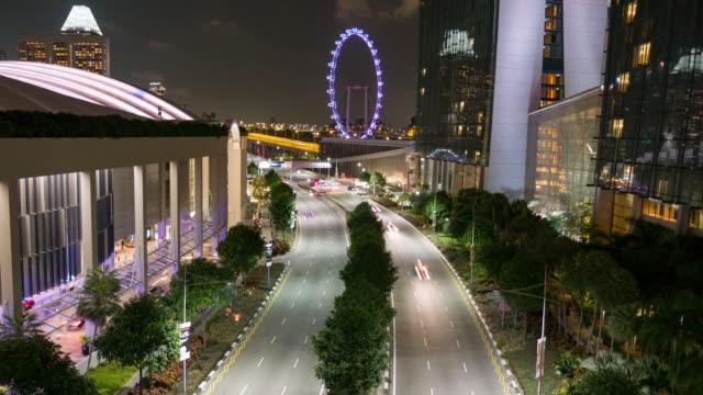 Timelapse traffic at night