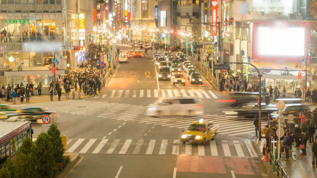 Timelapse : Traffic congestion and Pedestrians