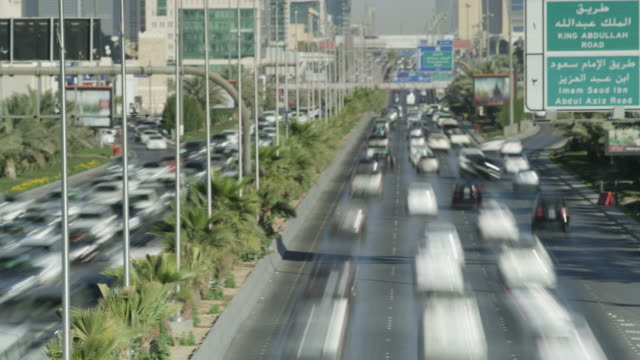 Timelapse traffic flow in central Riyadh, Saudi Arabia