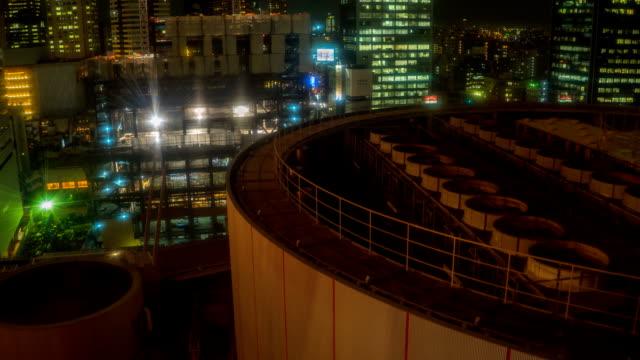 timelapse traffic from ferris wheel - yokohama stock videos and b-roll footage