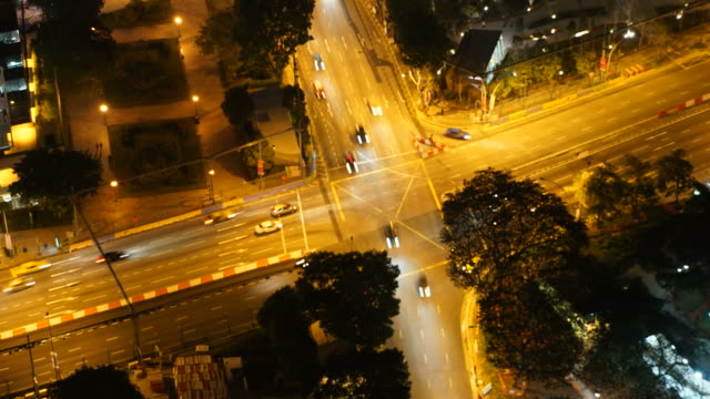 HD Timelapse - traffic in singapore city