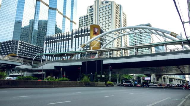 Zeitraffer: Stau In Bangkok, Thailand.
