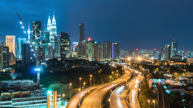 time-lapse traffic malaysia city - malaysia stock videos & royalty-free footage