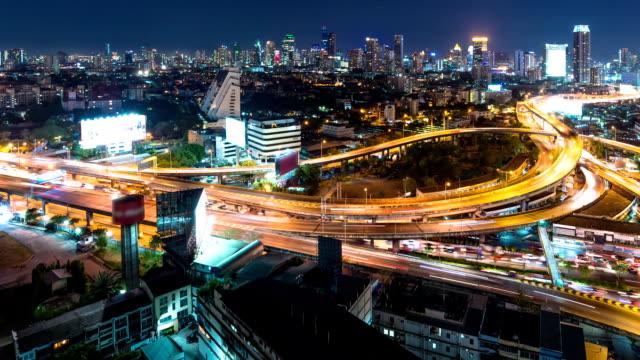 Timelapse traffic night light