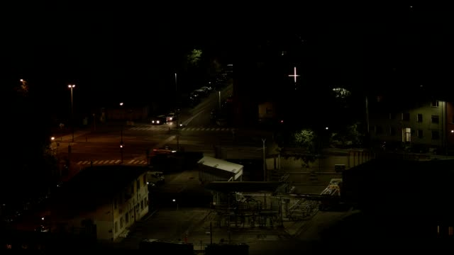 time-lapse: traffic on road at night - brennero stock videos and b-roll footage