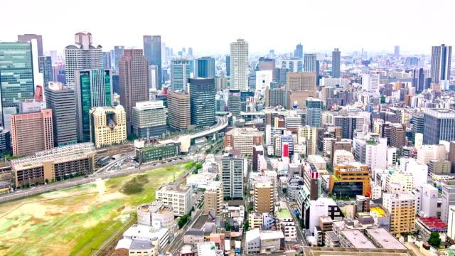 Hd Time Lapse Traffic Street Skyline Osaka Japan