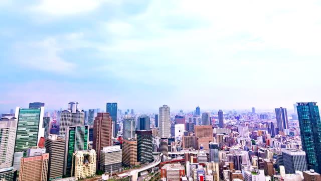 HD Time-lapse : Traffic Street Skyline, Osaka-Japan.