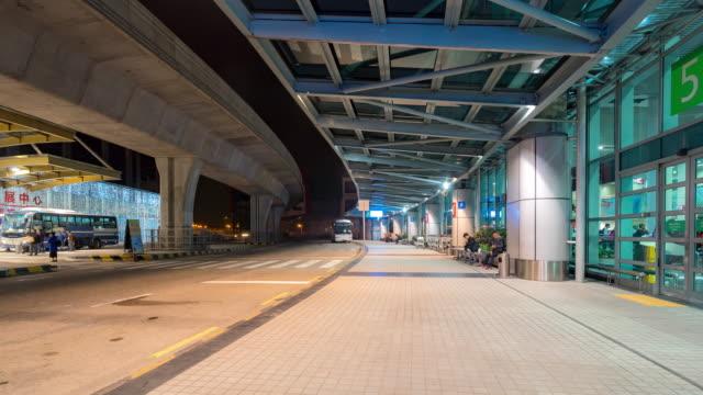 Time-Lapse: Traveler Crowd at Airport departure building Macau, China
