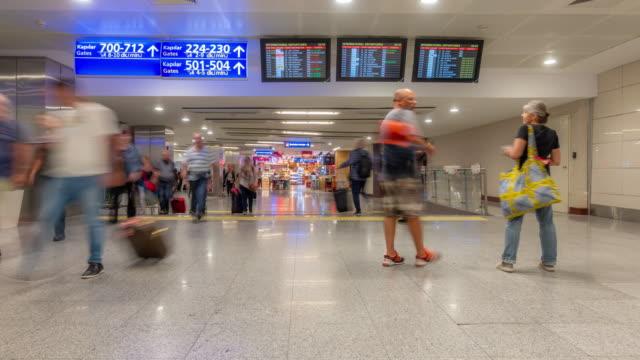 Zeitraffer: Reisenden Fans in Istanbul Türkei Abreise und Transfer-Bereich