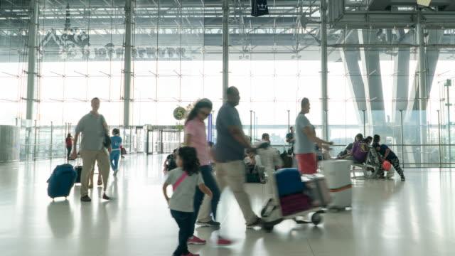 Time-Lapse Traveler personer på flygplats