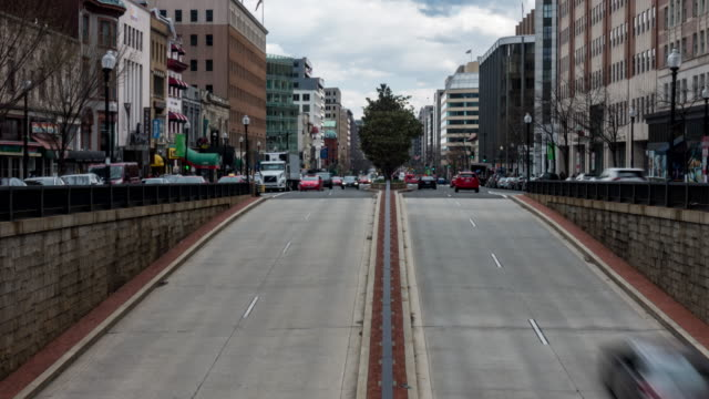 time-lapse: tunnel transportation in washington dc downtown usa - dupont circle stock videos & royalty-free footage