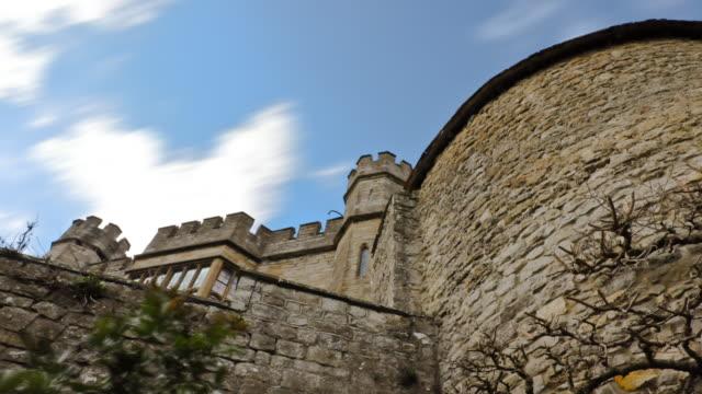 Time-lapse Upward Shot of Leeds Castle
