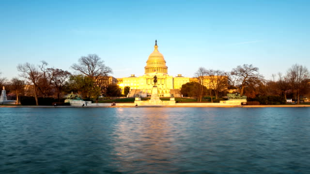 HD Time-lapse: US Capitol Building, Washington DC, USA