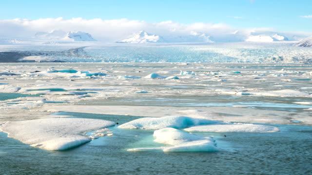 HD time-lapse: Vatnajokull Glacier Jokulsarlon lagoon Iceland