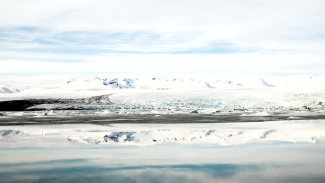 hd time-lapse: vatnajokull glacier jokulsarlon lagoon iceland - conditions stock videos and b-roll footage