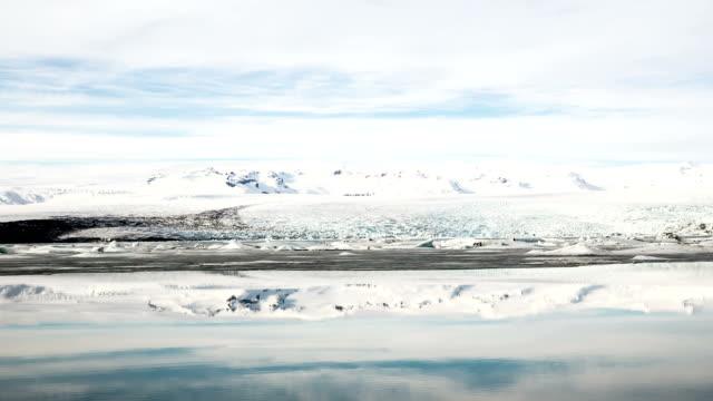 vídeos y material grabado en eventos de stock de hd time-lapse:  vatnajokull glaciar, islandia laguna de jökulsárlón - helado condición