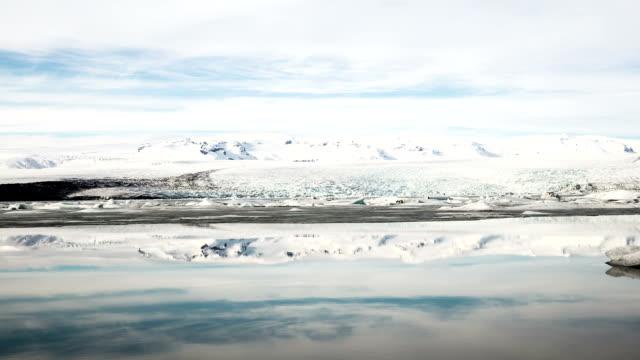 hd time-lapse: vatnajokull glacier jokulsarlon lagoon iceland - icecap stock videos and b-roll footage