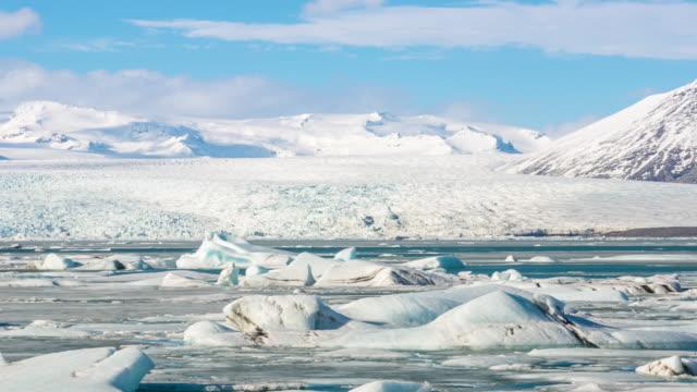 4 k time -lapse (低速度撮影):バトナ氷河氷河ヨークルサルロンスイミングラグーンアイスランド - 北極点の映像素材/bロール